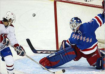 Dan Blackburn when he was with the New York Rangers