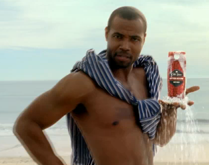 The Old Spice man in the February 2010 ad
