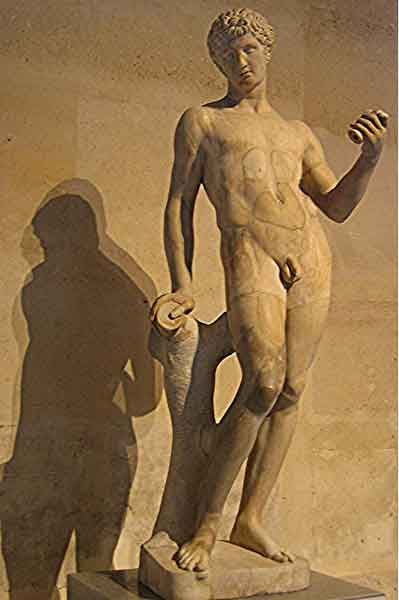 Adonis as presented at the Louvre in Paris, France - I thought it would destabilize some readers