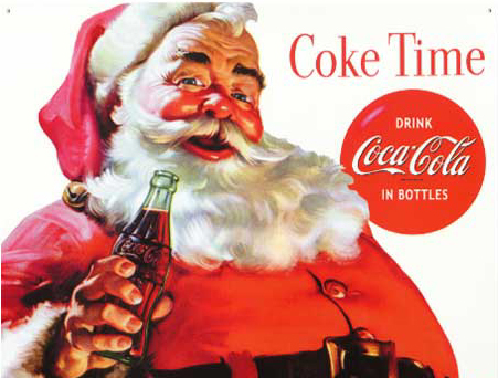 Ho ho ho! The famous Santa Claus image, as popularized in the '30's by Coca-Cola ads