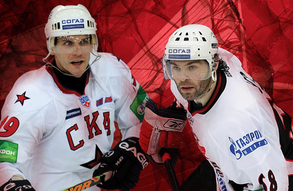 Image of the KHL featuring Alexei Yashin and Jaromir Jagr